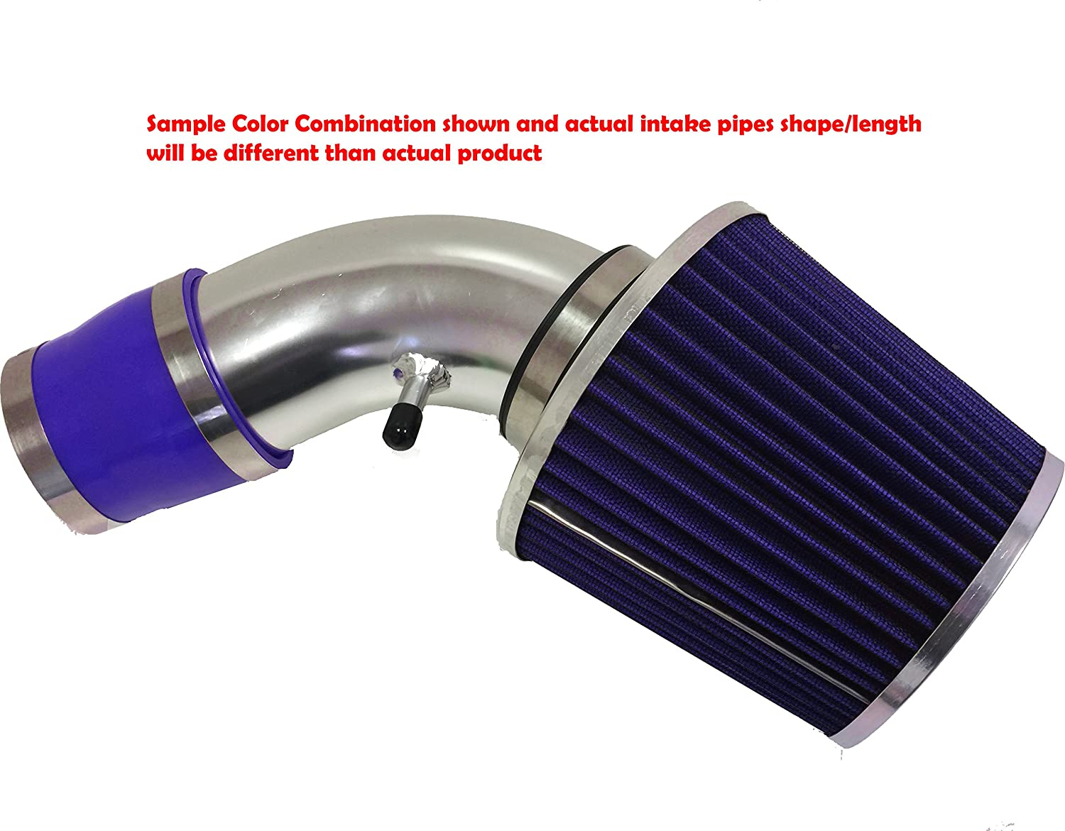Black Accessories with Blue Filter 1990 1991 1992 1993 1994 1995 1996 1997 Toyota Corolla 1.6L 1.8L L4 Air Intake Filter Kit System