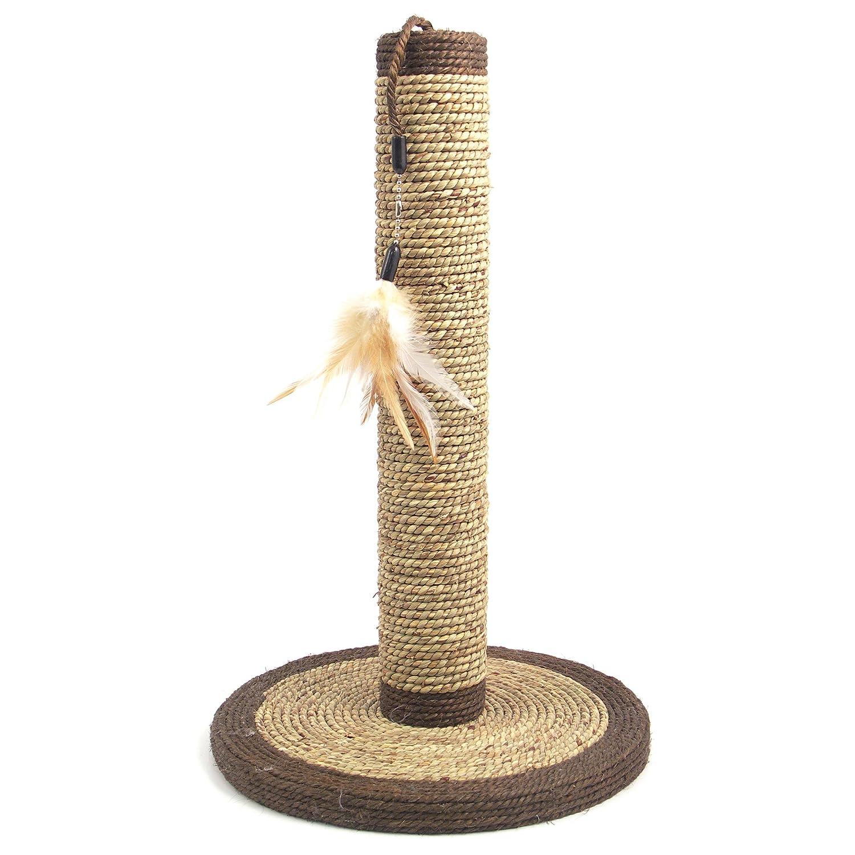 Rosewood Natural Cat Scratcher Poteau Griffoir à Plume et à Algue 03006