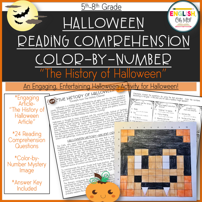 Halloween Worksheets For 5th Grade (Halloween Reading Comprehension)