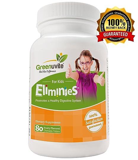 Eliminies by Greenuvite - limpiador de colon para niños en altas dosis. Limpiador de colon