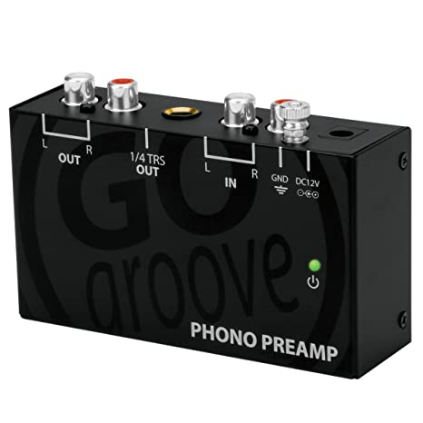 Review GOgroove Mini Phono Turntable Preamp (Preamplifier) with 12 Volt AC Adapter for Vinyl Record Player - Works With Audio Technica, Crosley, Jensen, Pioneer, Victrola, 1byone and More Turntables