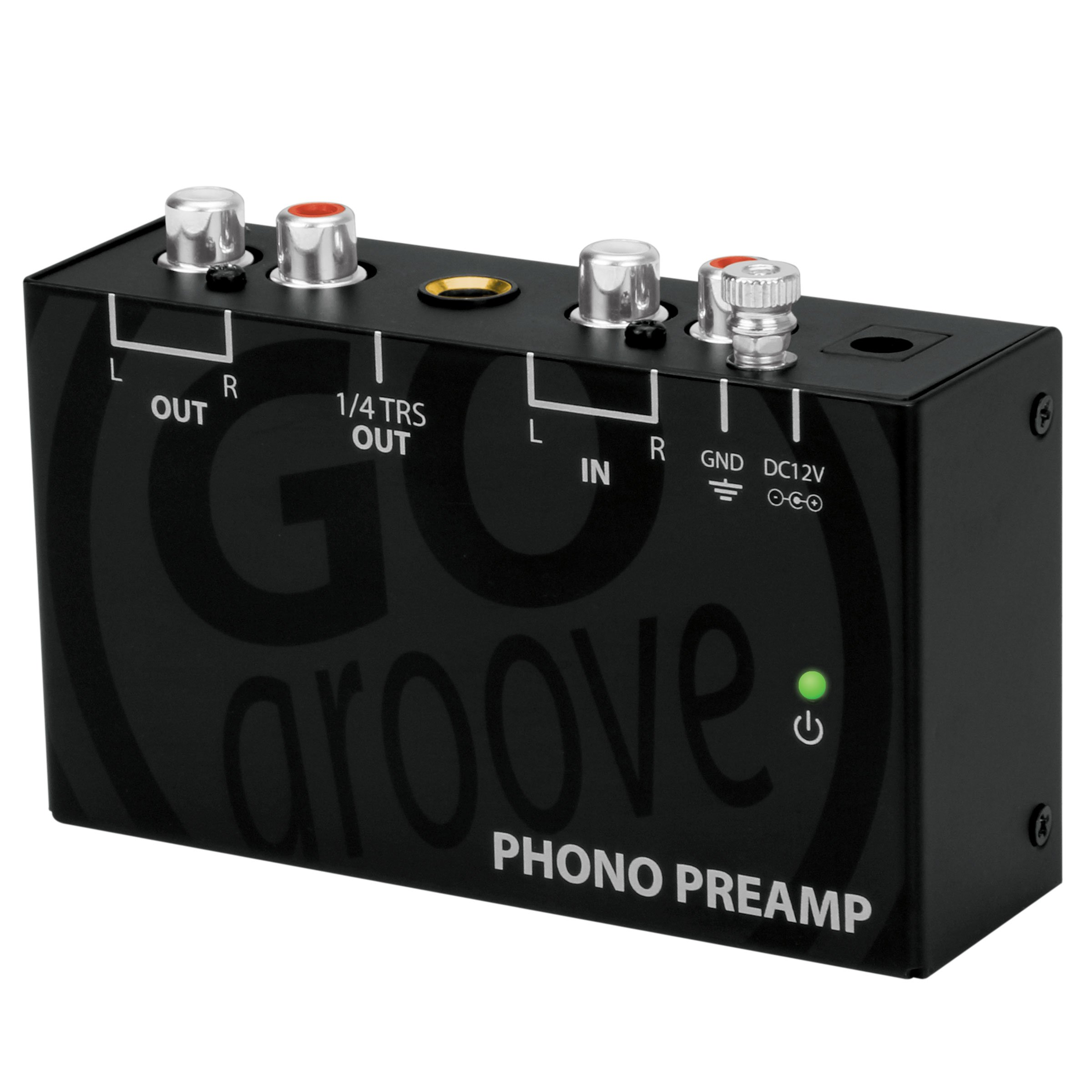 Mini Turntable Phono Preamp for Bookshelf Speakers by GOgroove - Preamplifier Connects to AOMAIS , Edifier , Klipsch , Mackie , Micca , Pioneer , Sony , Monoprice and More Bookshelf Speakers by GOgroove