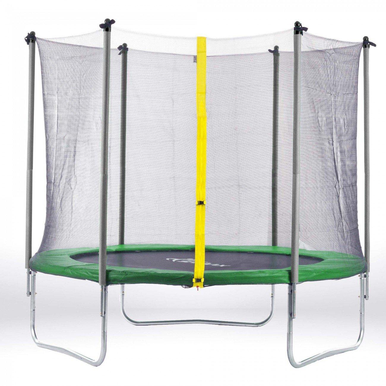 SAMAX Trampolin Gartentrampolin 4,27m (14 ft) Sicherheitsnetz grün