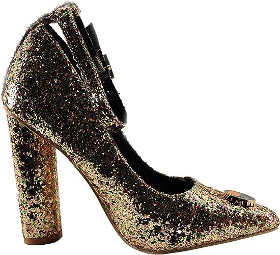 Womens Shoes Cape Robbin Ella 25 Sparkled Pin Accented Pump Black *New*