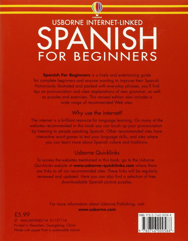 Workbooks spanish language workbooks : Spanish for Beginners (Usborne Language Guides): Amazon.co.uk ...