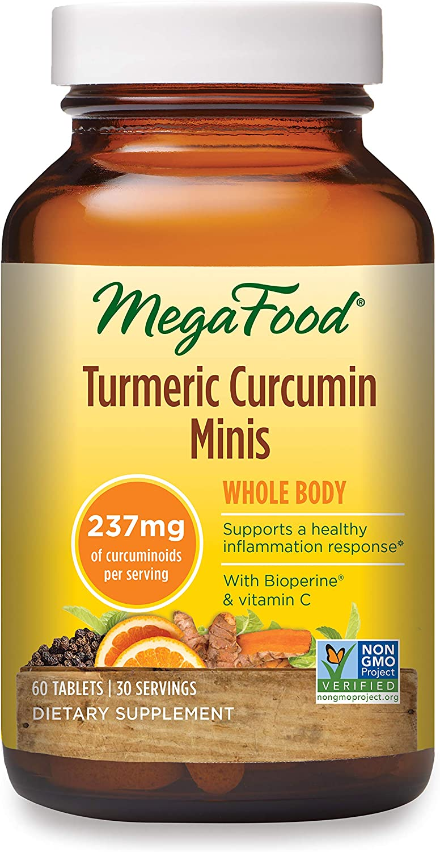 MegaFood, Turmeric Curcumin Minis, 60 Tablets (30 Servings)