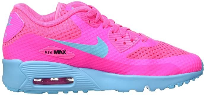 watch 35169 225ea Amazon.com   Nike Kids Air Max 90 BR GS, PINK BLAST GAMMA BLUE-BLACK, Youth  Size 6   Road Running