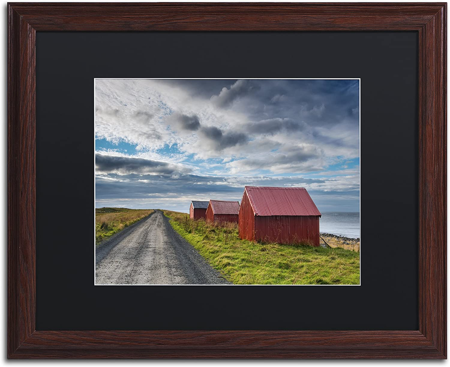 Three In A Row By Michael Blanchette Photography Artwork In Black Matte With Wood Frame 16 X 20 Home Kitchen