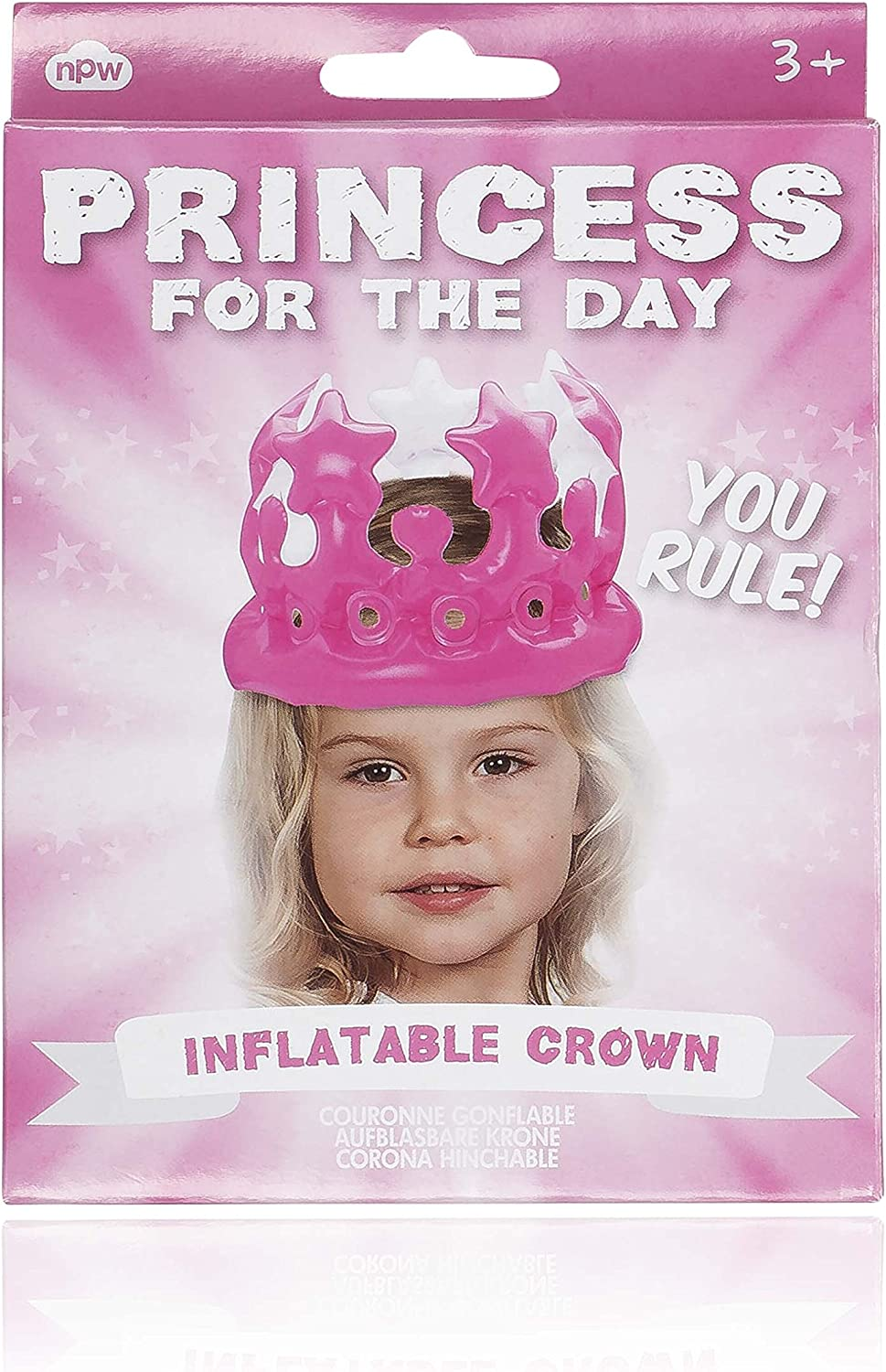 Party King Gold Inflatable Crown Stag Do Birthday Boy Fun Party Accessory