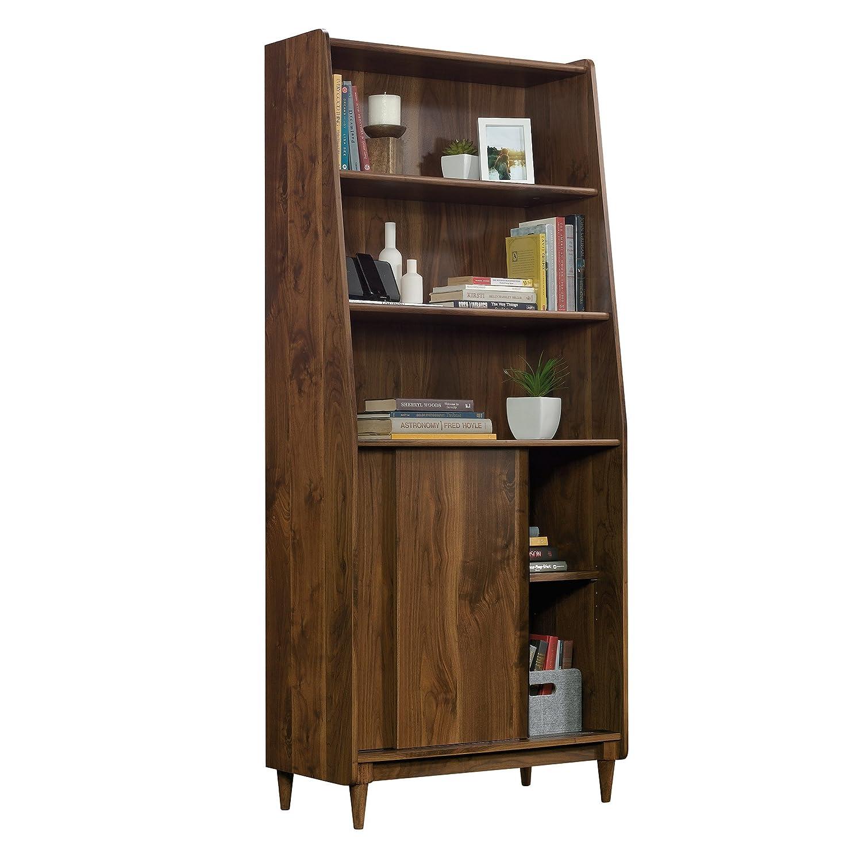 Amazon Com Sauder 420282 Harvey Park Wide Bookcase Grand Walnut