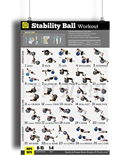 Exercise Ball Workout Poster NOW LAMINATED