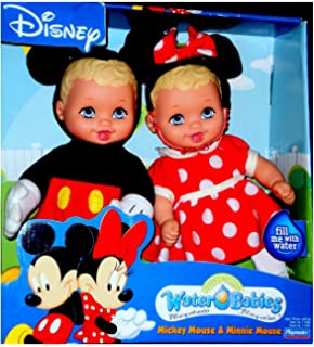 Disney Mickey and Minnie Mouse Water Babies Doll Set Lauer Baby Dolls Toy