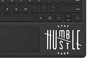 "Stay Humble Hustle Hard Decal Sticker MacBook Ipad Laptop iPhone Car Window (5.5"" inches, White)"