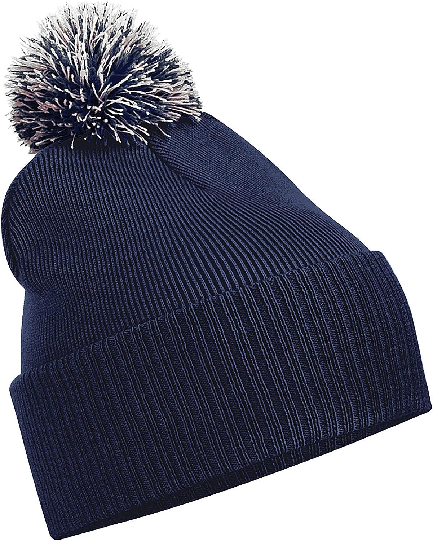 Beechfield Unisex Snowstar Duo Winter Knit Beanie Bobble Hat