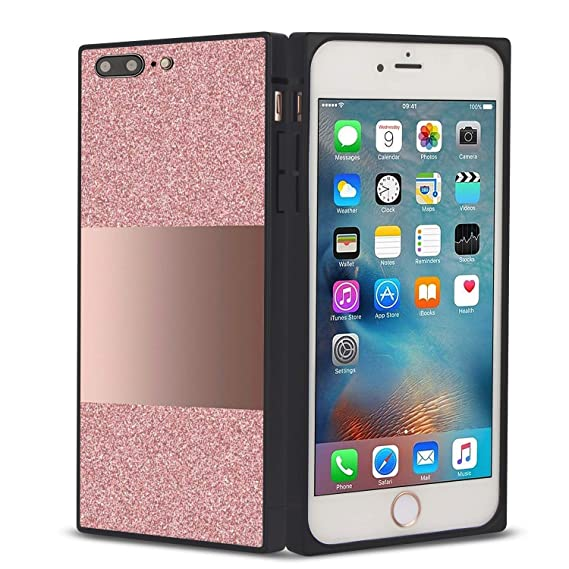 grande vendita c9638 cde6f Amazon.com: MOTIKO Square Phone Case Cover iPhone 7 Plus ...