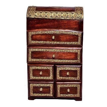 Jaipur handicrafts hub - Cajonera pequeña de Madera Maciza ...