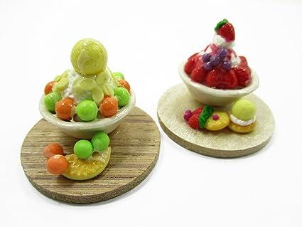 Amazon Com Dollhouse Miniature Food 2 Flavors Bingsu Korean Dessert