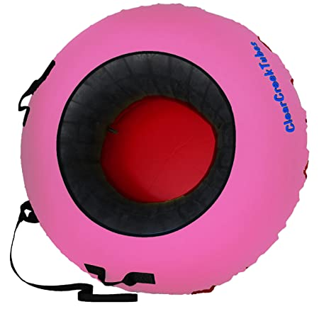 ClearCreekTubes Tiny-Tots 36 Non-Towable Snow Tube with Red Bottom