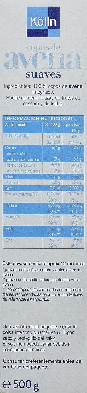 Kölln Copos de Avena Original - 500 gr: Amazon.es: Alimentación y bebidas