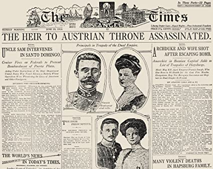 Amazoncom Ferdinand Assassination Nthe Front Page Of The