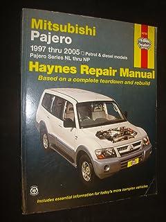 mitsubishi pajero automotive repair manual haynes publishing rh amazon com Mitsubishi Pajero 1998 mitsubishi pajero nm service manual