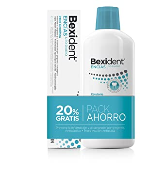 Isdin Bexident Encías Uso Diario Pack ahorro 20% EXTRA Colutorio 500ml+Pasta 125ml: Amazon.es