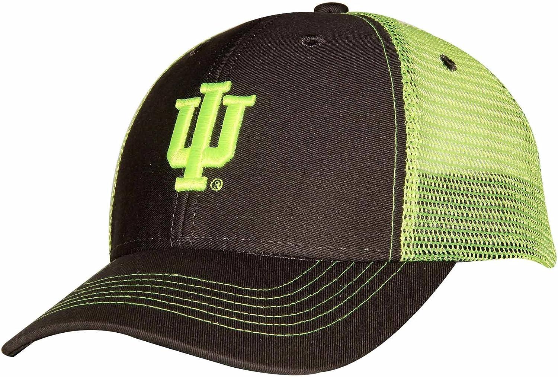 Dark Grey//Neon Yellow Ouray Sportswear NCAA Indiana Hoosiers Sideline Cap