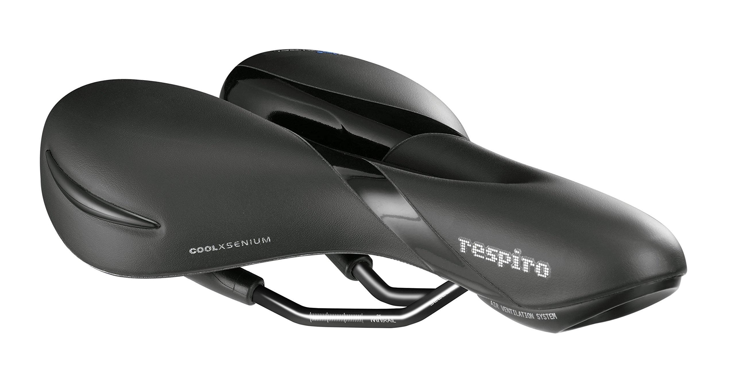 Selle Royal Men's Respiro Moderate MTB/Road Bicycle Saddle, Black by Selle Royal