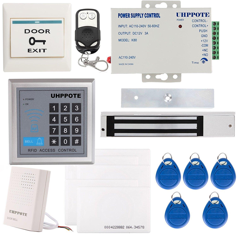 UHPPOTE アクセスコントロールシステムセット アクセス制御用キーパッドセット キーボード 280Kg(600Lbs)電気マグネチックロック IDカード リモコン マグネチック錠 125KHz EM-IDカード 1ドアセキュリティー アクセスコントロール B01KWJOG1W
