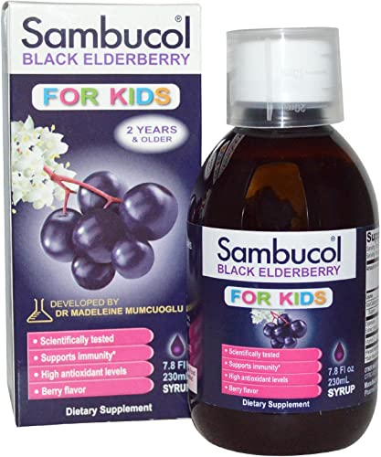 Sambucol Black Elderberry Syrup for Kids – 7.8 oz