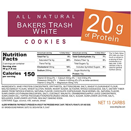 Whey 2 se Protein Cookie, cran-orange White Chocolate, 3,25 ...