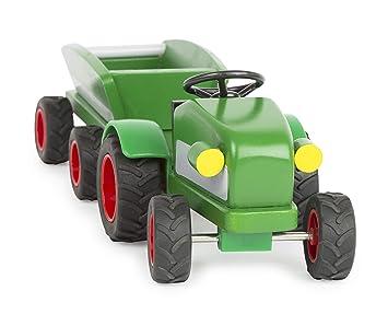 Bauernhof Bauernhof+++ Holzspielzeug +++Legler Traktor mit Anhänger++