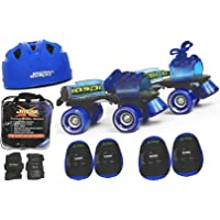 Jaspo Blue Men Pro Senior Skates Combo (Skates+Helmet+Knee+Elbow+Wrist+Bag) Suitable for Age 6 to 14 Years