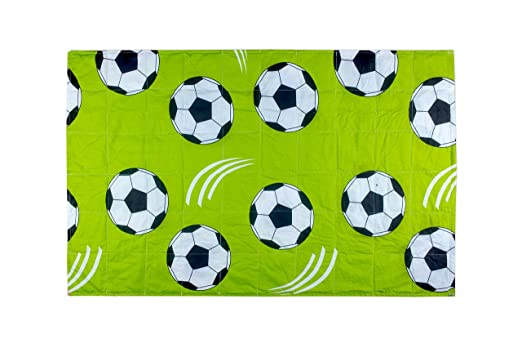 Perfect for Little Fans of Football Weighted Blanket for Children with Football Theme Created for Children with 3.7 to 4.7 Weight: 2kg Size: 100x150 cm 110-139cm of Height. Senso-Rex