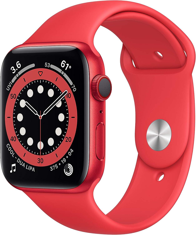 Nuevo AppleWatch Series6 (GPS+Cellular, 44 mm) Caja de Aluminio (Product) Red - Correa Deportiva (Product) Red