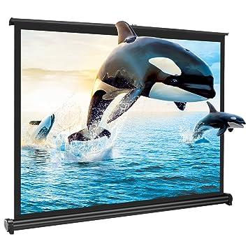 """APEMAN 50"""" 4:3 HD Pantalla para Proyector Plegable y Portátil para Cine en Casa y Oficina Pantalla Autoportante Fabricada en Blanco Mate"""