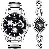 ADAMO Designer Analog Black Dial Unisex Watch - 107-327SM02