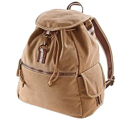ab22cb052 Quadra Vintage Canvas Backpack - 18 Litres: Amazon.co.uk: Sports ...