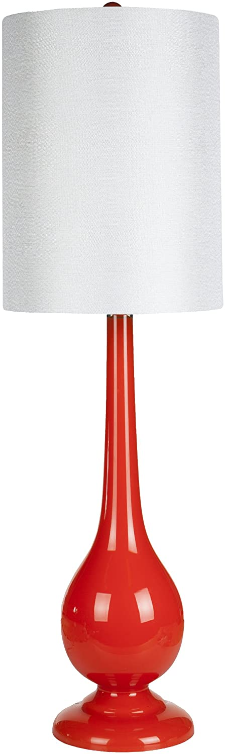 Distressed White 34 by 13 by 13-Inch Surya LMP-1028 Table Lamp