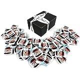 Ferrero Nutella Hazelnut Spread With Cocoa, 0.52 oz Single Serve Packets in a BlackTie Box (Pack of 60)