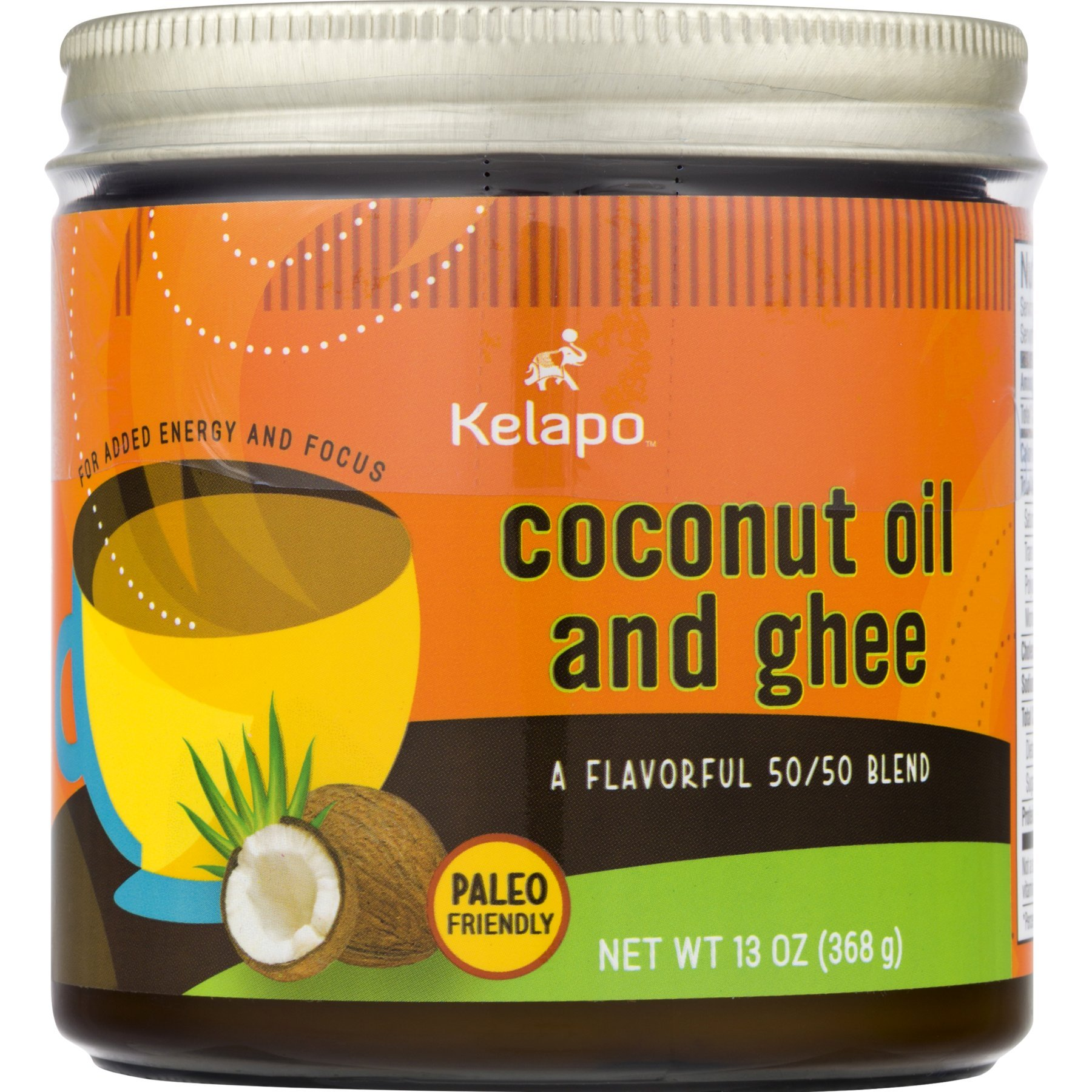 Kelapo Coconut Oil and Ghee 50/50 Blend,13-Ounce Jar