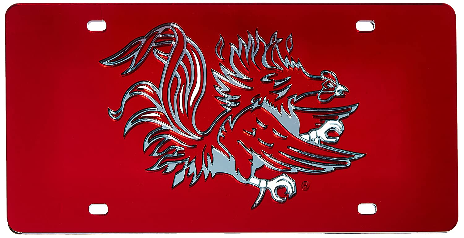 Rico NCAA South Carolina Fighting Gamecocks Laser Cut License Plate LZC120101 Red Rico Industries Inc.