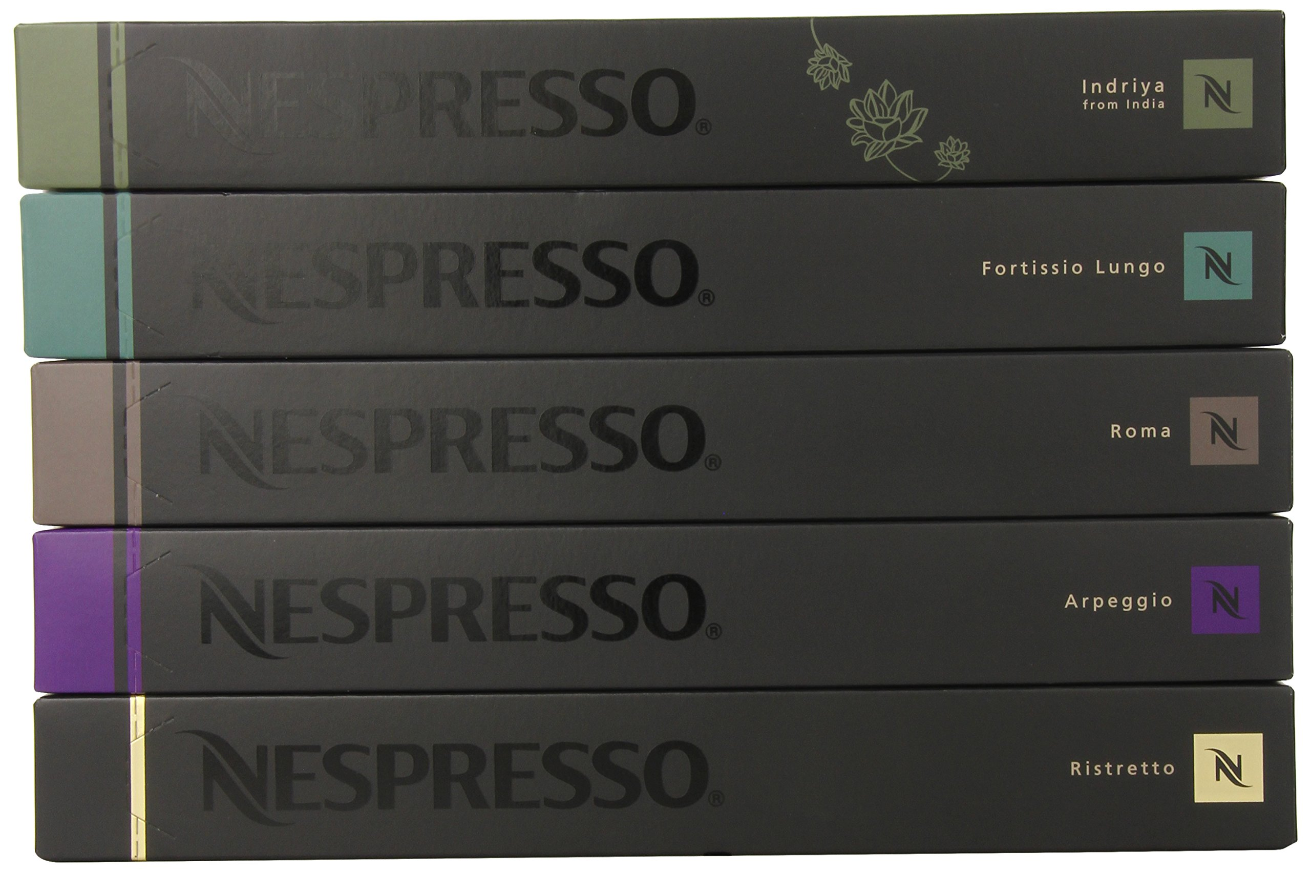 50 Nespresso OriginalLine Capsules variety pack: Intense Family - ''NOT compatible with Vertuoline'' by Nestle Nespresso