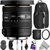 Sigma 10-20mm f/3.5 EX DC HSM ELD SLD Wide-Angle Lens for NIKON DSLR Cameras w/Essential Photo and Travel Bundle