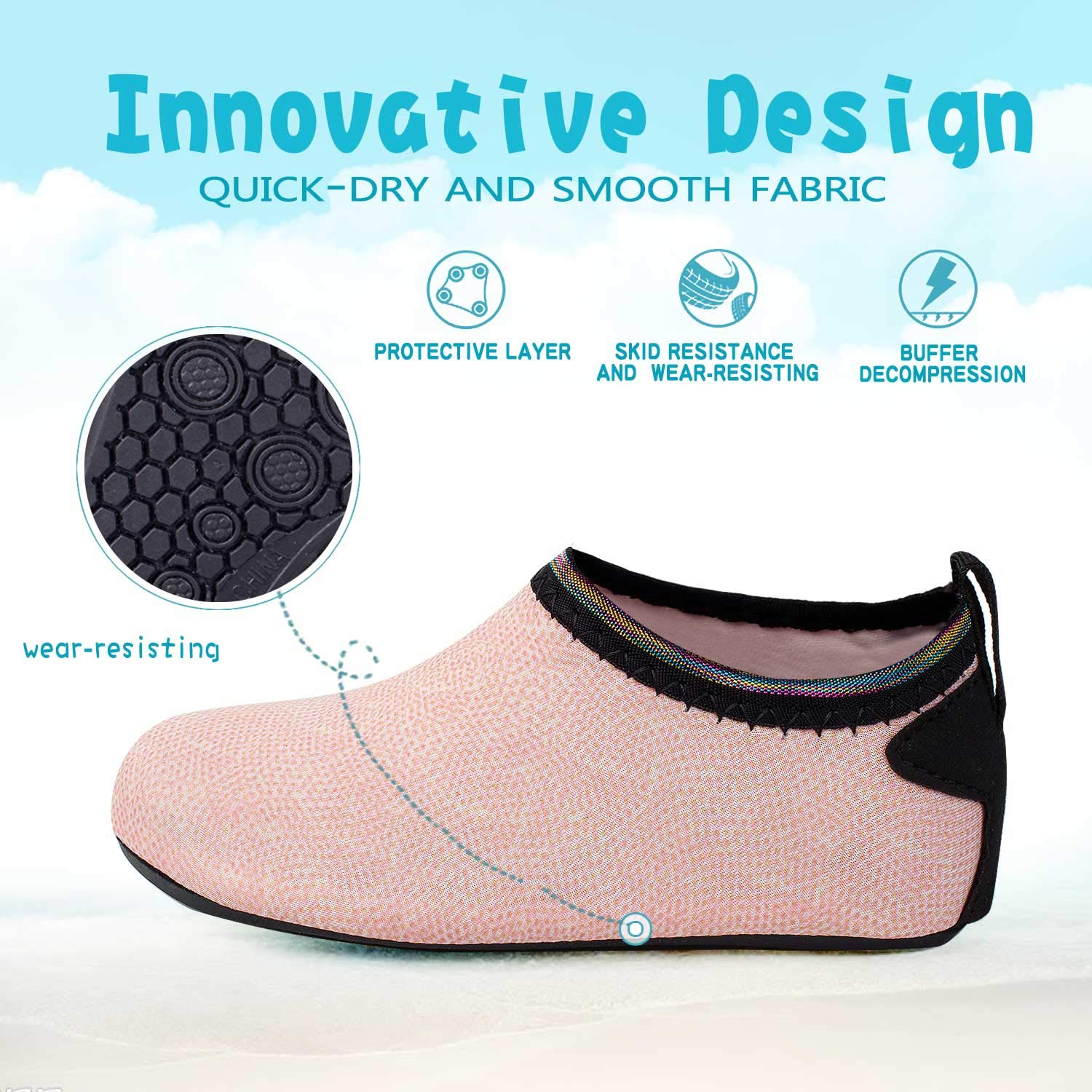 Starry Earth Kids Water Shoes Quick Dry Aqua Socks Barefoot Sports Shoes Boys Girls Toddler