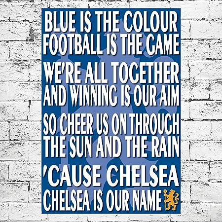 Chelsea Song Large Canvas Art Print  Retro Funky Football