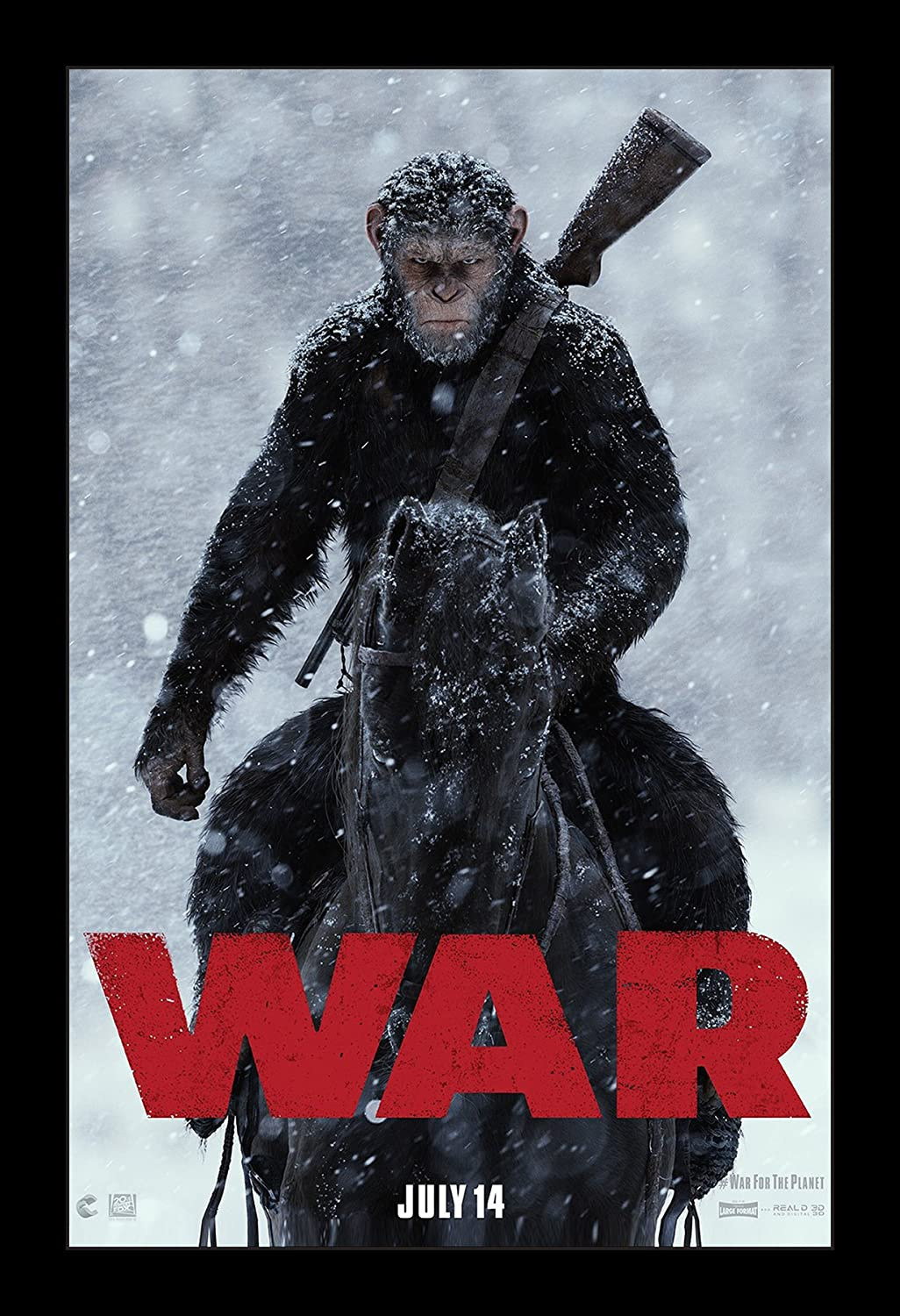 Wallspace War for The Planet of The Apes - 11x17 Framed Movie Poster