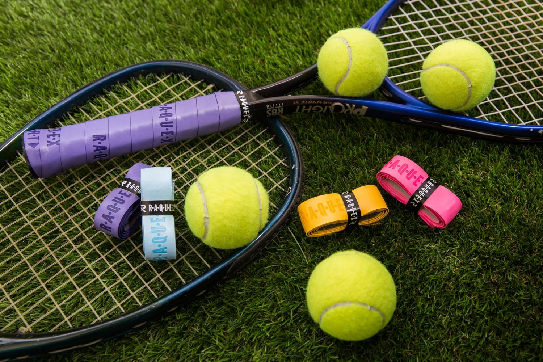 not thin overgrip Raquex White Replacement PU Racquet Grip: Tennis Badminton grip Squash