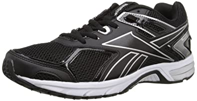 Reebok Men's Quickchase Xw Running Shoe, Black/Pure Silver/White, 8 4E