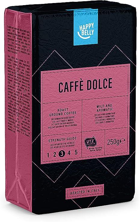 """Amazon Brand - Happy Belly Ground Coffee """"Caffè Dolce"""" (4 x 250g)"""